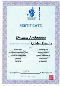 сертификат по ци мень