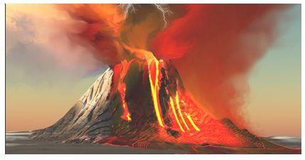 горящая гора