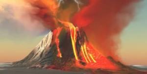 лошадь вулкан