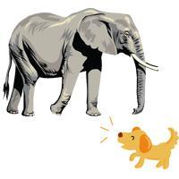 моська и слон
